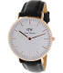 Daniel Wellington Women's Sheffield 0508DW Black Leather Quartz Watch - Main Image Swatch