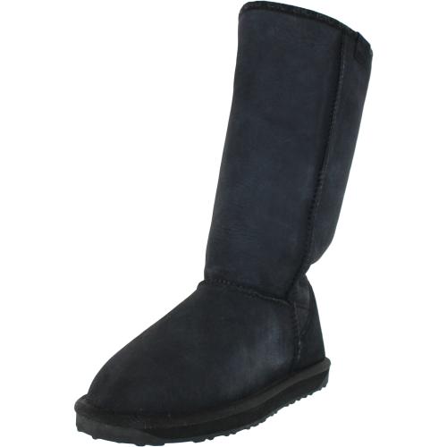Emu Women's Stinger Hi Black Mid-Calf Sheepskin Snow Boot -