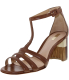 Schutz Women's Candida Ankle-High Pleather Sandal - Main Image Swatch