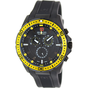 Swiss Military Hanowa Men's Squad 06-4212-27-007-11 Black Rubber Swiss Quartz Watch