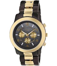 Geneva Platinum Women's 9158.GUN.GOLD Grey Metal Quartz Watch