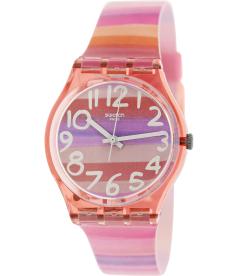 Swatch Women's Originals GP140 Pink Plastic Swiss Quartz Watch