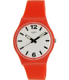 Swatch Men's Originals GR162 Red Rubber Swiss Quartz Watch