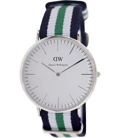 Daniel Wellington Men's Nottingham 0208DW White Nylon Quartz Watch