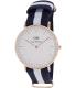 Daniel Wellington Women's Glasgow 0503DW Blue Nylon Quartz Watch - Main Image Swatch