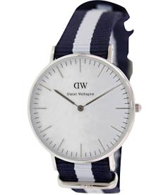Daniel Wellington Women's Glasgow 0602DW White Nylon Quartz Watch