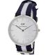 Daniel Wellington Women's Glasgow 0602DW Blue Nylon Quartz Watch - Main Image Swatch