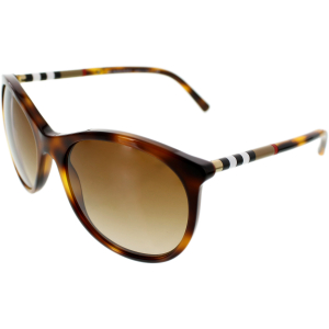 Burberry Women's Gradient  BE4145-331613-55 Tortoiseshell Round Sunglasses