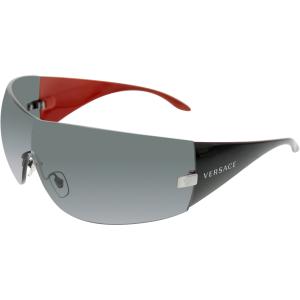 Versace Men's  VE2054-100187-41 Black Wrap Sunglasses