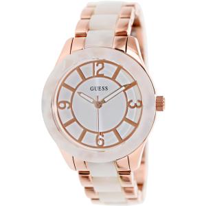 Guess Women's U0074L2 White Stainless-Steel Quartz Watch