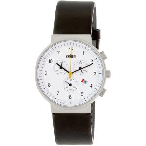 Braun Men's BN0035WHBKG White Leather Quartz Watch