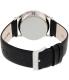 Skagen Men's SKW6065 Black Leather Quartz Watch - Back Image Swatch