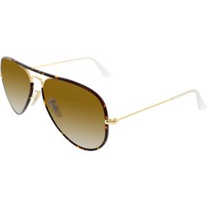 Ray-Ban Men's Aviator RB3025JM-001-58 Tortoiseshell Aviator Sunglasses
