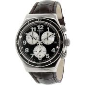 Swatch Men's Irony YVS400 Brown Leather Swiss Quartz Watch