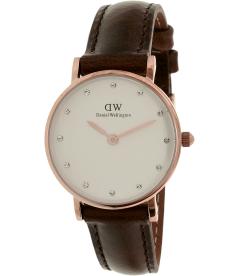 Daniel Wellington Women's Classy Bristol 0903DW White Leather Quartz Watch