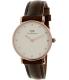 Daniel Wellington Women's Classy Bristol 0903DW Brown Leather Quartz Watch - Main Image Swatch