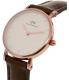 Daniel Wellington Women's Classy Bristol 0903DW Brown Leather Quartz Watch - Side Image Swatch