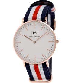 Daniel Wellington Women's Canterberry 0502DW White Nylon Quartz Watch