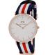 Daniel Wellington Women's Canterberry 0502DW Blue Nylon Quartz Watch - Main Image Swatch