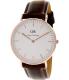 Daniel Wellington Women's Bristol 0511DW Bronze Leather Quartz Watch - Main Image Swatch