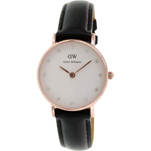 Daniel Wellington Women's Classy Sheffield 0901DW Black Leather Quartz Watch