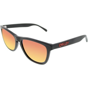 Oakley Men's Mirrored Frogskins OO2043-02 Black Square Sunglasses