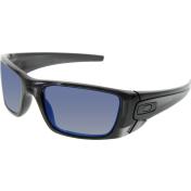 Oakley Men's Polarized Fuel Cell OO9096-84 Black Rectangle Sunglasses