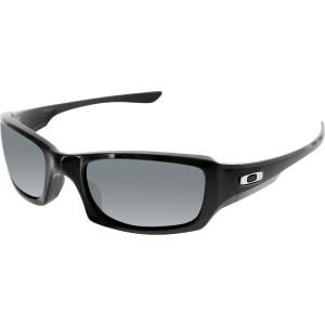 Oakley Men's Polarized Fives Squared OO9238-06 Black Rectangle Sunglasses