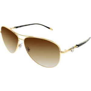 Tiffany & Co Women's  TF3034-60023B-60 Gold Aviator Sunglasses