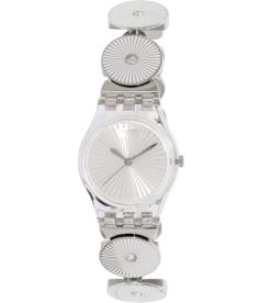 Swatch Women's Originals LK339G Silver Stainless-Steel Swiss Quartz Watch