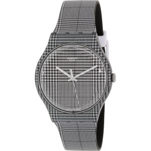 Swatch Men's Originals SUOB113 Black/White Silicone Swiss Quartz Watch