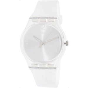 Swatch Women's Originals SUOK112 Clear Silicone Swiss Quartz Watch