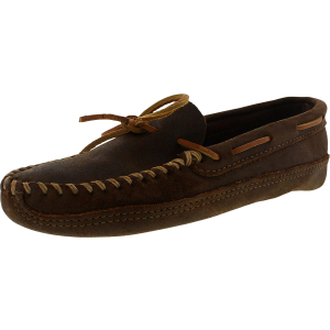Minnetonka Men's Double Bottom Softsole Ankle-High Leather Loafer