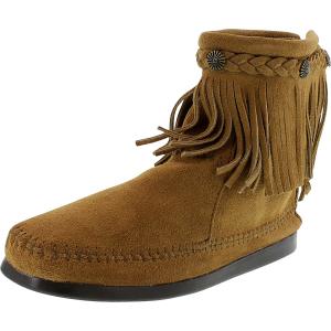 Minnetonka Women's Hi Top Back Zip Boot High-Top Suede Boot