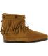Minnetonka Women's Hi Top Back Zip Boot High-Top Suede Boot - Side Image Swatch