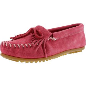 Minnetonka Women's Kilty Suede Moc Hardsole Ankle-High Suede Loafer