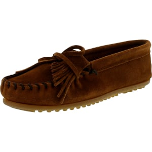 Minnetonka Women's Kilty Suede Moc Hardsole Ankle-High Suede Loafer