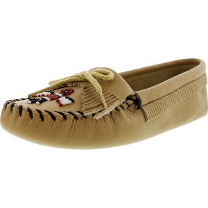 Minnetonka Women's Thunderbird Softsole Ankle-High Leather Flat Shoe