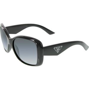 Prada Women's Polarized  PR32PS-1AB5W1-57 Black Butterfly Sunglasses