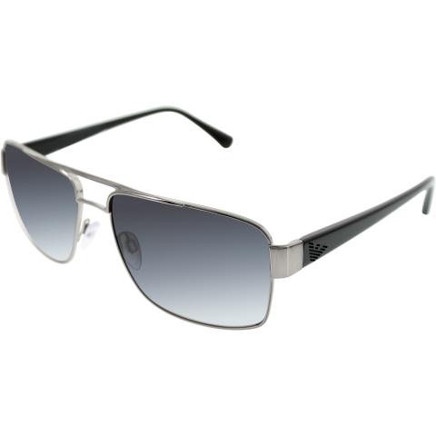 Emporio Armani Men's EA2002-30168G-57 Gunmetal Square Sunglasses