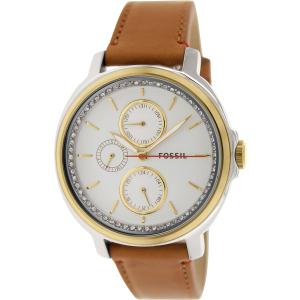 Fossil Women's Chelsey ES3523 Silver Leather Quartz Watch