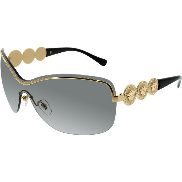 Versace Womens VE2146B-100211-38 Gold Semi-Rimless Sunglasses