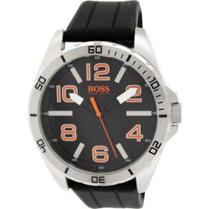 Hugo Boss Men's 1512943 Black Silicone Analog Quartz Watch
