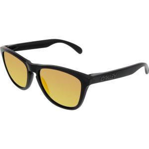 Oakley Men's Polarized Frogskins 24-402 Black Square Sunglasses