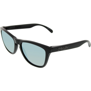 Oakley Men's Polarized Frogskins 24-404 Black Square Sunglasses