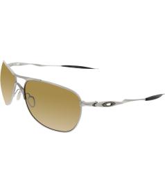 Oakley Men's Polarized Crosshair OO6014-01 Silver Rectangle Sunglasses