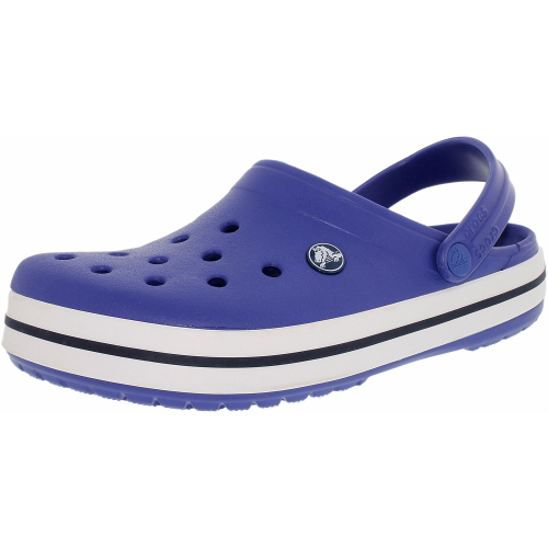 Crocs Men's Crocband Cerulean Blue/Navy Ankle-High Rubber Sa