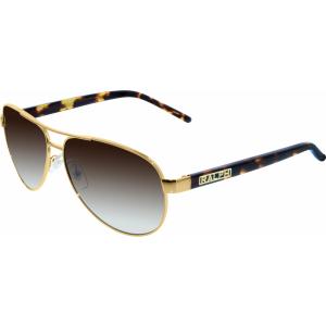 Ralph Lauren Women's Gradient  RA4004-104/13-59 Gold Aviator Sunglasses