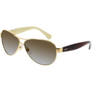 Ralph Lauren Men's Polarized  RA4096-106/T5-59 Gold Aviator Sunglasses