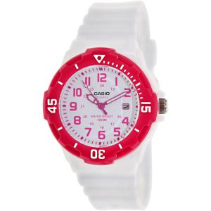 Casio Women's LRW200H-4BV White Resin Analog Quartz Watch